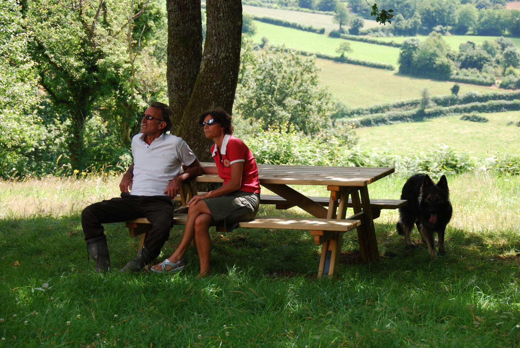 picknick bij la chapelle de la Savault